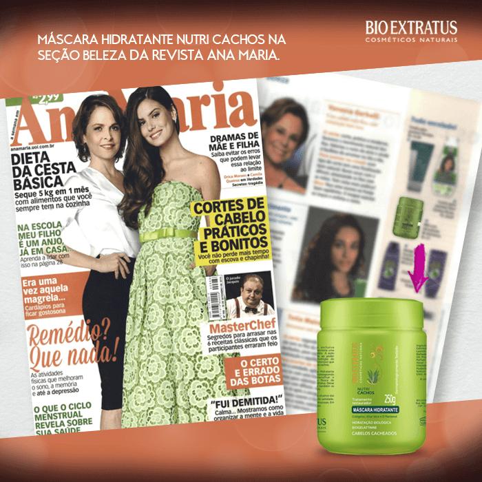 Máscara Nutricachos na Revista Ana Maria